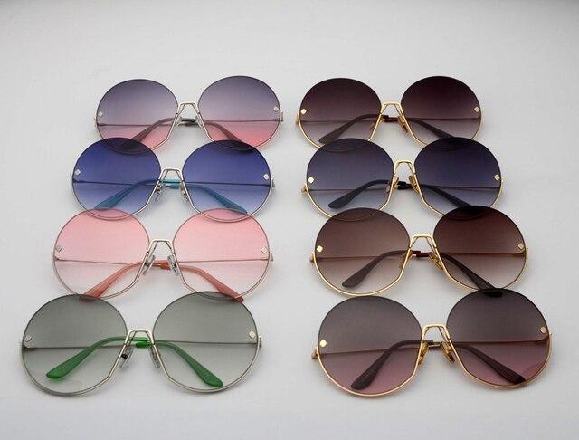 JackJad Fashion Oversized Round Metal Frame Rivets Sunglasses Women Semi-Rimless Brand Design Sun Glasses Oculos De Sol S31028 5