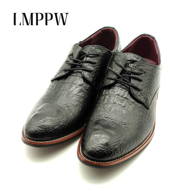 Top Quality Split Leather Men S Office Dress Shoes Black Red Lace Up Casual Bullock