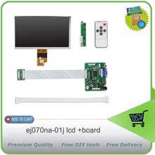 On sale 7 .0 Inch 40pins 1024(RGB)*600 TFT EJ070NA-01J LCD Screen Display With Remote Driver Control Board 2AV HDMI VGA for Raspberry Pi