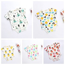 New Toddler Baby Kids Cartoon Fruit Rompers Boys and Girls Short Sleeve Sweet Cotton Rompers Children Clothing