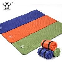 SY New Self Inflating Camping Mattress Inflatable Sleeping Pad Camping Air Mattress With Pillow Portable Folding
