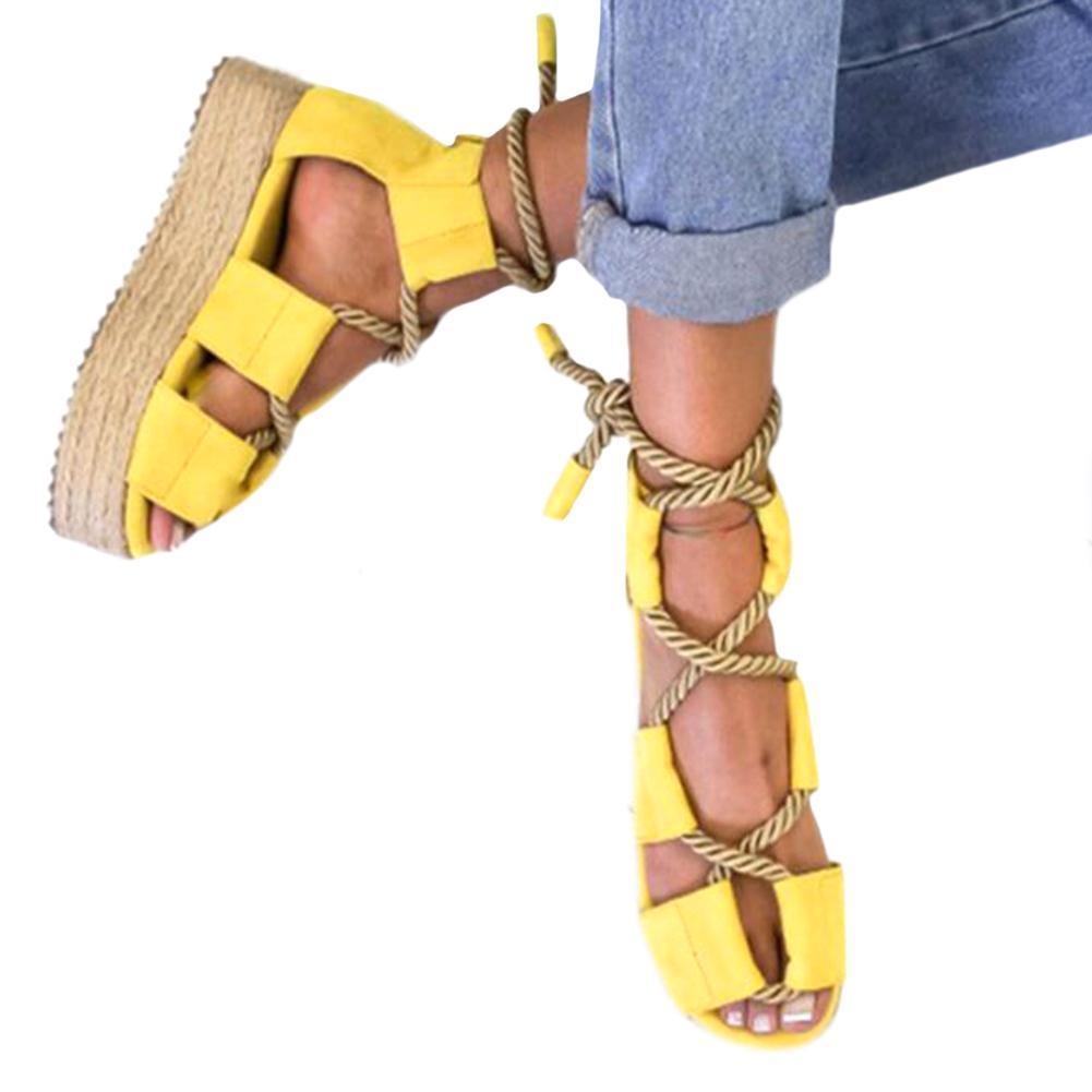 Zapatos Mujeres De Cuñas Las Alpargatas Sandalias Para FTcKJl1