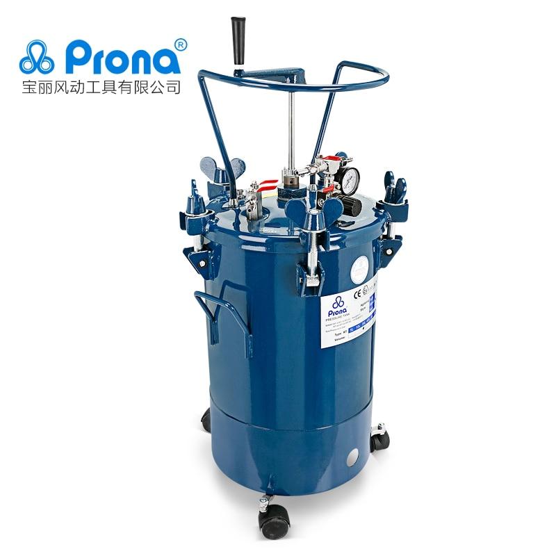 Ręczny zbiornik ciśnieniowy mieszadła Prona RT-10M RT-20M RT-40M RT-60M, 10L / 20L / 40L / 60L do wyboru, zbiornik ze stali nierdzewnej wewnątrz
