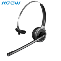 Mpow M5 Professional Headset Bluetooth 4.1 Headset Black Wireless Over Head Noise Canceling Driver Headphones With Microphone