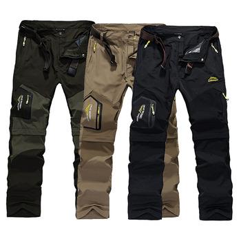 2019 spodnie do wędrówek pieszych Outdoor spodnie szybkoschnące męskie letnie oddychające spodnie kempingowe odpinane spodenki Trekking polowanie spodnie wędkarskie tanie i dobre opinie Pełnej długości Camping i piesze wycieczki Grizzilla NYLON Poliester Zipper fly Gore tex GZL029 Pasuje prawda na wymiar weź swój normalny rozmiar