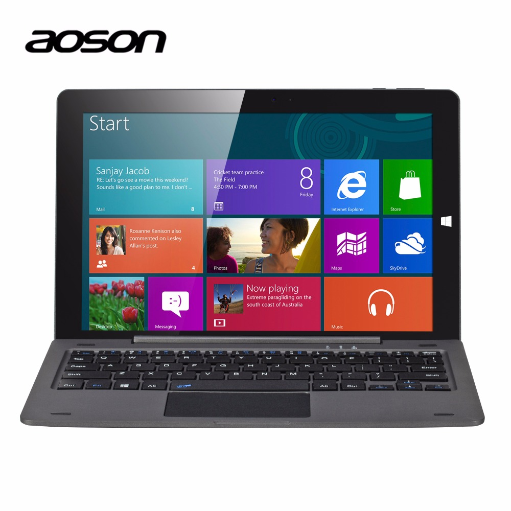 Laptop 10.1 inch Windows 10 Tablet PC Business Aoson R105 4G/64G Quad Core Cherry Trail Z8300 1280*800 HDMI Notebook keyboard