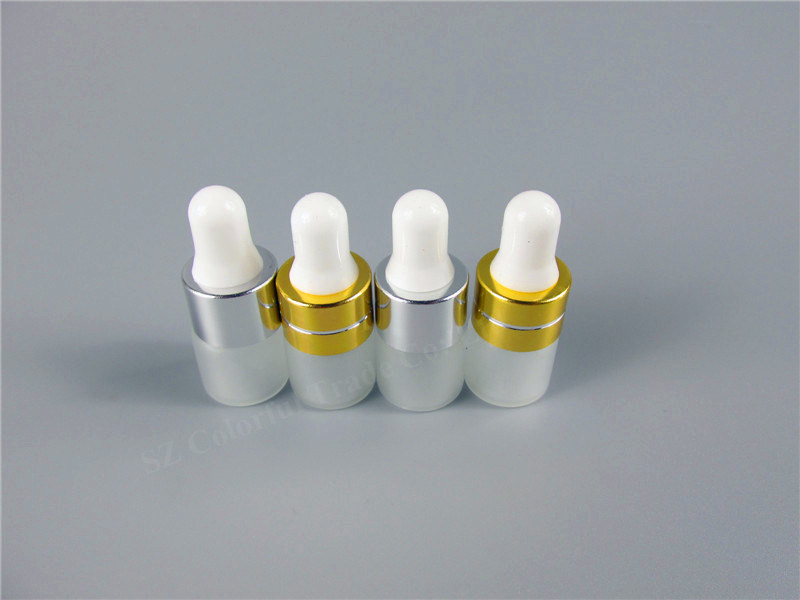Image 5 - 50pcs/lot 1ml 2ml 3ml 5ml Perfume Essential Oil Bottles Frosted Glass Dropper Bottle Jars Vials With Pipette For Cosmetic3ml essential oil bottlefrosted glass perfume bottlesperfume oil bottles -