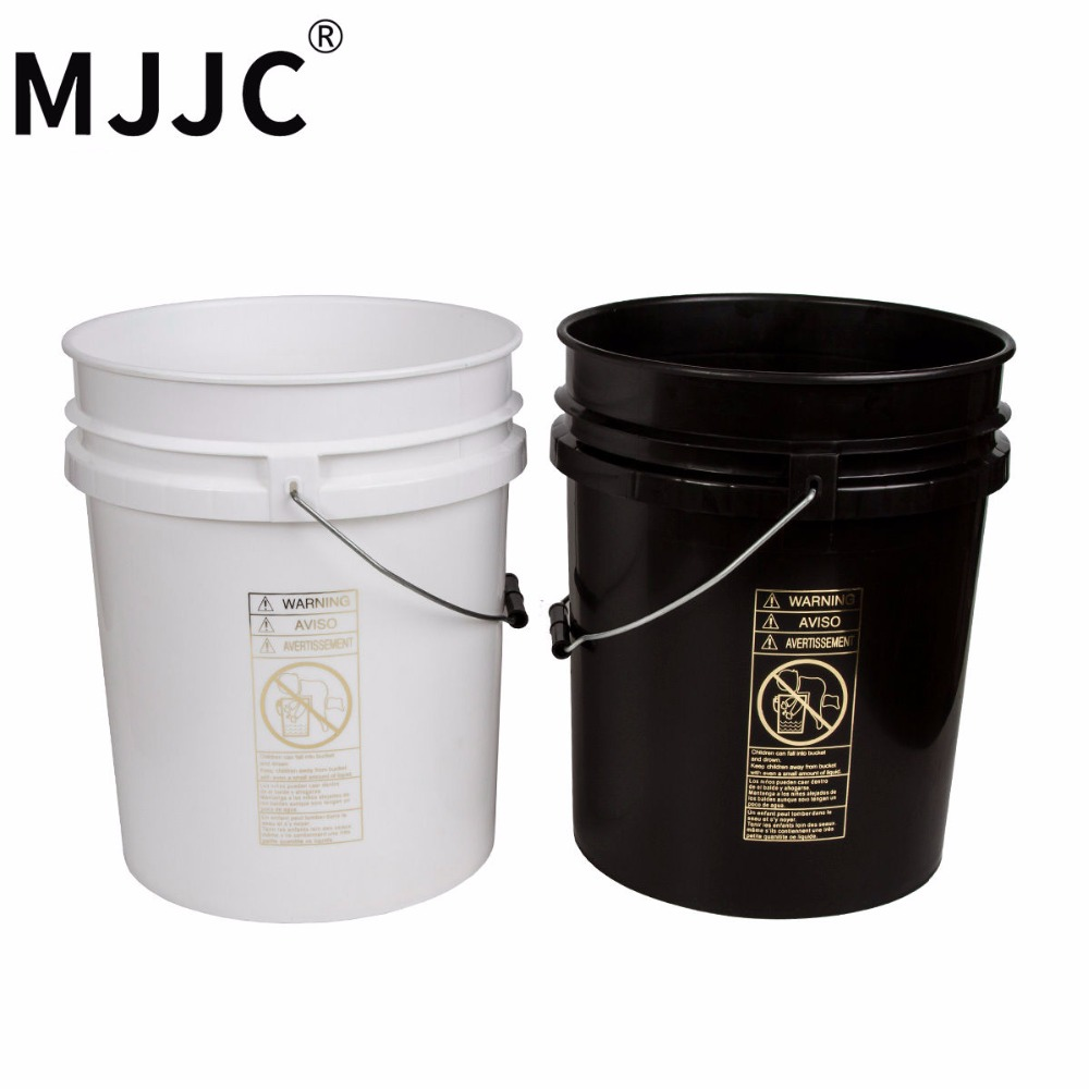 MJJC Brand with High Quality Dual Bucket two bucket washing Kit each bucket 5 gallon(20L) one black and one white gibson clear bucket care kit