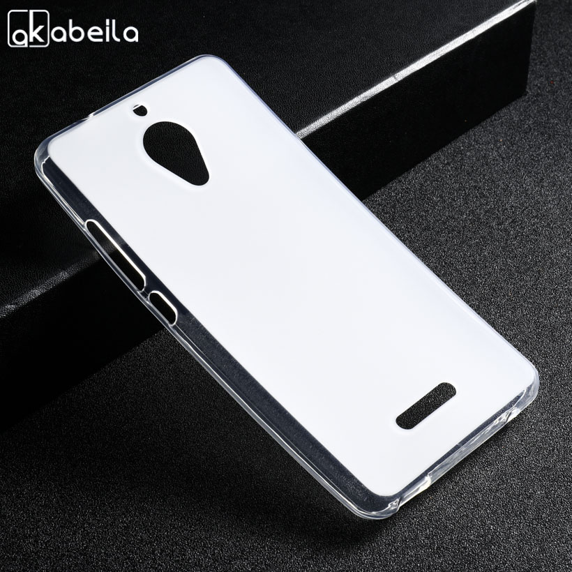 AKABEILA Silicone Case For Wiko Tommy 2 Plus Coque Tommy2 Plus Soft TPU White Cover