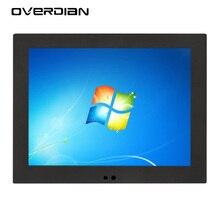 Pantalla cuadrada inteligente para ordenador de 12 pulgadas, sistema Win7, pantalla táctil única, 1024x768, Panel de ordenador Industrial, PC, ordenador integrado