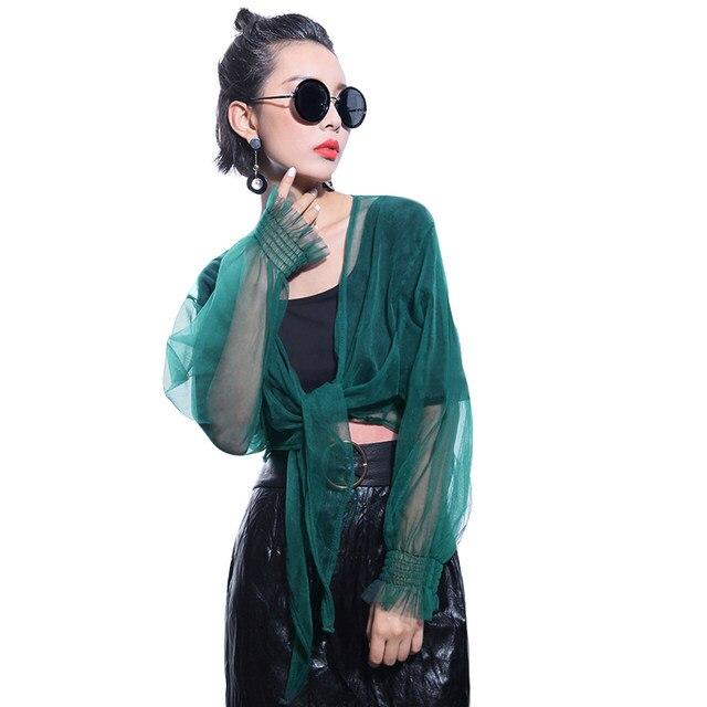 Online Shop European Style 2017 Summer Women Sexy Sheer Mesh Tops ...