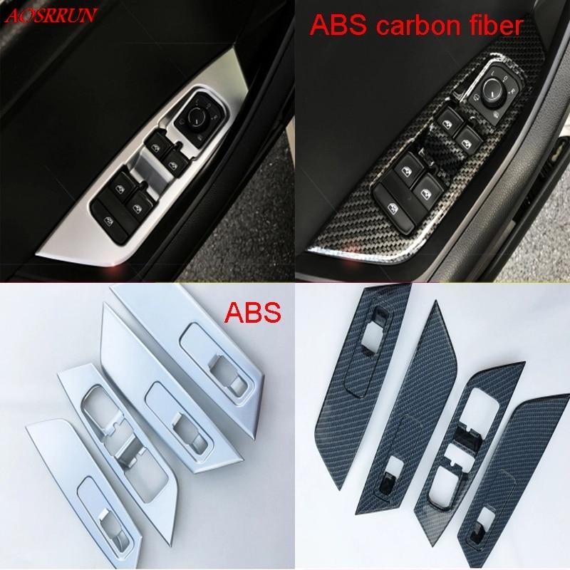 Carbon fiber window glass lifter switch buttons decorative frame covers trim font b interior b font