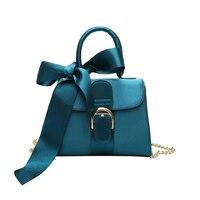 European Style Fashion New Handbags 2017 Quality PU Leather Velvet Women Bag Bow Tie Sweet Lady
