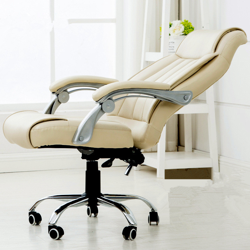 Hot Sale Office Staff Manager Chair Lifting Lying Computer Chair Super Soft Swivel chair Thicken Cushion Leisure Boss Chair the silver chair