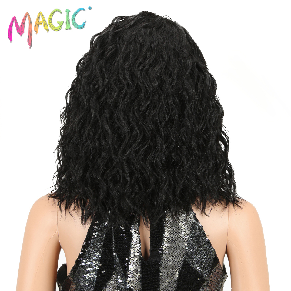 MAGIC Hair Afro Kinky Curly Wigs For Black Women Heat Resistant Lace Front Wigs Ombre Brown 5 Colour High Temperature Hair
