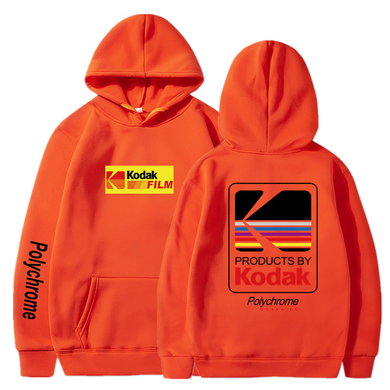 Japanese Hip Hop Winter Fleece Hoody Harajuku kodak Jackets Men Women Sweatshirts 37