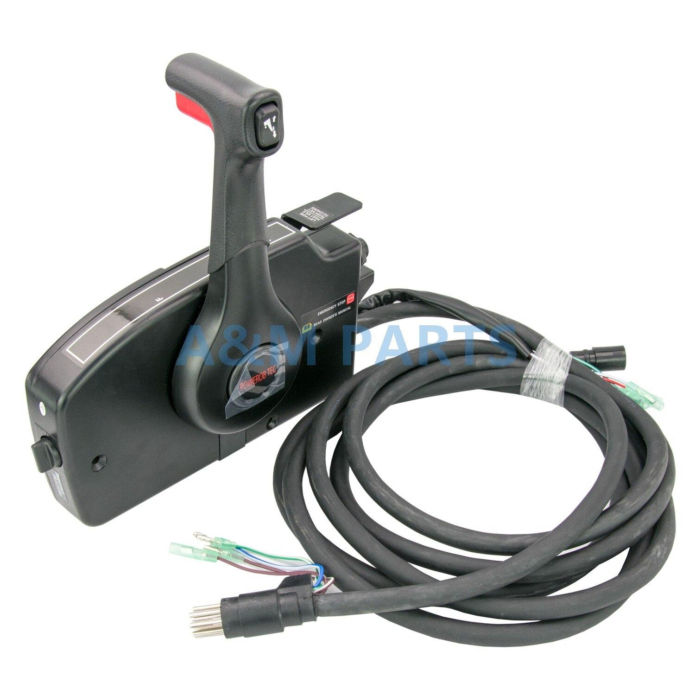 Caixa de Controle Remoto para o Mercúrio Motor De Popa Motor Do barco 881170A15 Montagem Lateral Trim & Tilt 8 Pin