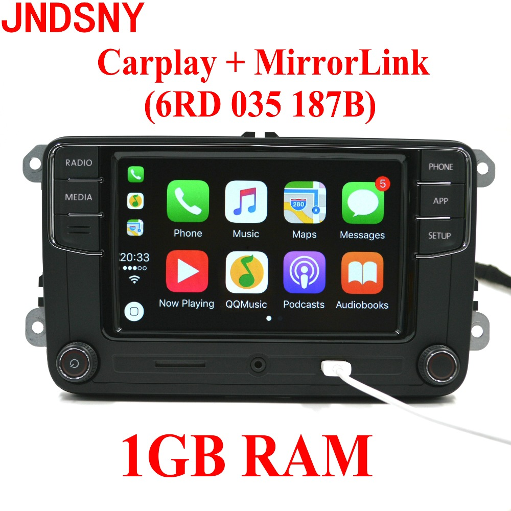 JNDSNY RCD330G CarPlay RCD330 Plus CarPlay Car Radio For VW Tiguan Golf 5 6 Jetta MK5 MK6 Passat Polo Touran 6RD035187B автомобильный dvd плеер wincen android 4 1 dvd vw golf 5 6 passat jetta tiguan touran skoda octavia seat altea