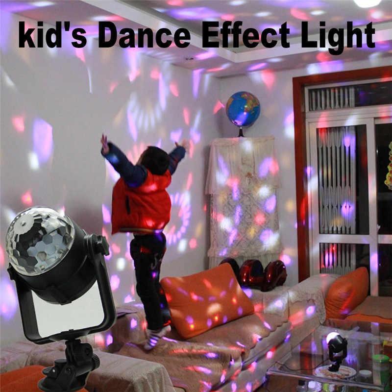 ZjRight USB 5 в кристалл магический вращающийся светодиодный сценический светильник с музыкальным управлением красочный проекционный светодиодный светильник s бар dj светильник ktv диско светильник