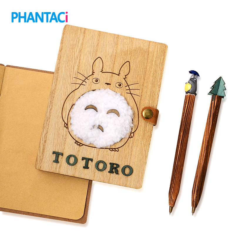 Novelty Cartoon Totoro Planner Notebook Cute Wooden Chinchilla Diary Note Book Gifts School Office Stationery Supplies novelty cartoon totoro planner notebook cute wooden chinchilla diary note book gifts school office stationery supplies
