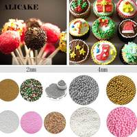 1Kg Edible Cake Sprinkles Cake Decoration Tools 2Mm Sugar Pearl Sprinkles Nonpareils Shimmer Cake Parsty Fondant Bakeware Tools