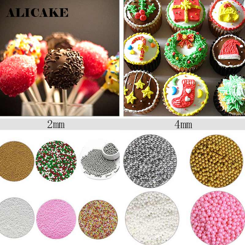 1Kg Edible Cake Sprinkles Decoration Tools 2mm Sugar Pearl Sprinkle Nonpareils Shimmer Cake Parsty Fondant Bakeware Tool z20