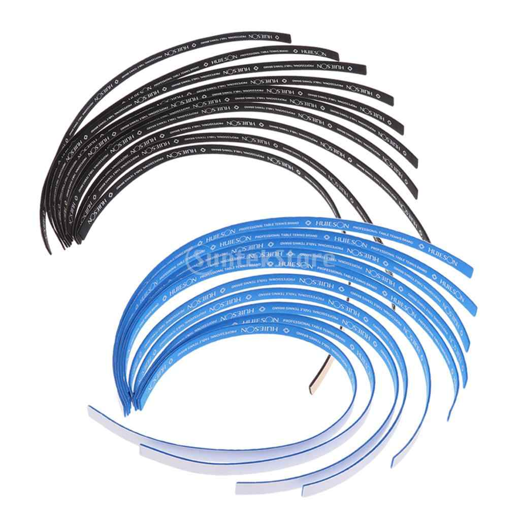 20 Pieces Table Tennis Paddle Edge Tape Racket Side Sponge Protect Tape Blue + Black