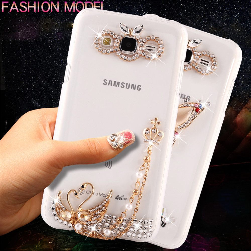 Handmade Luxury Diamond Girl Bling Crystal Rhinestone Hard
