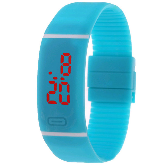 Middle School Leisure Sports Watch Horizontal Bracelet Electronic Led Children W