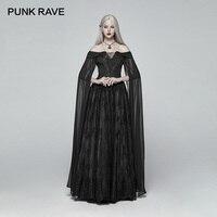 Панк рейв новый Виктория Готический розы тень длинное платье для женщин темно косплэй сцены Ретро элегантные женские костюмы