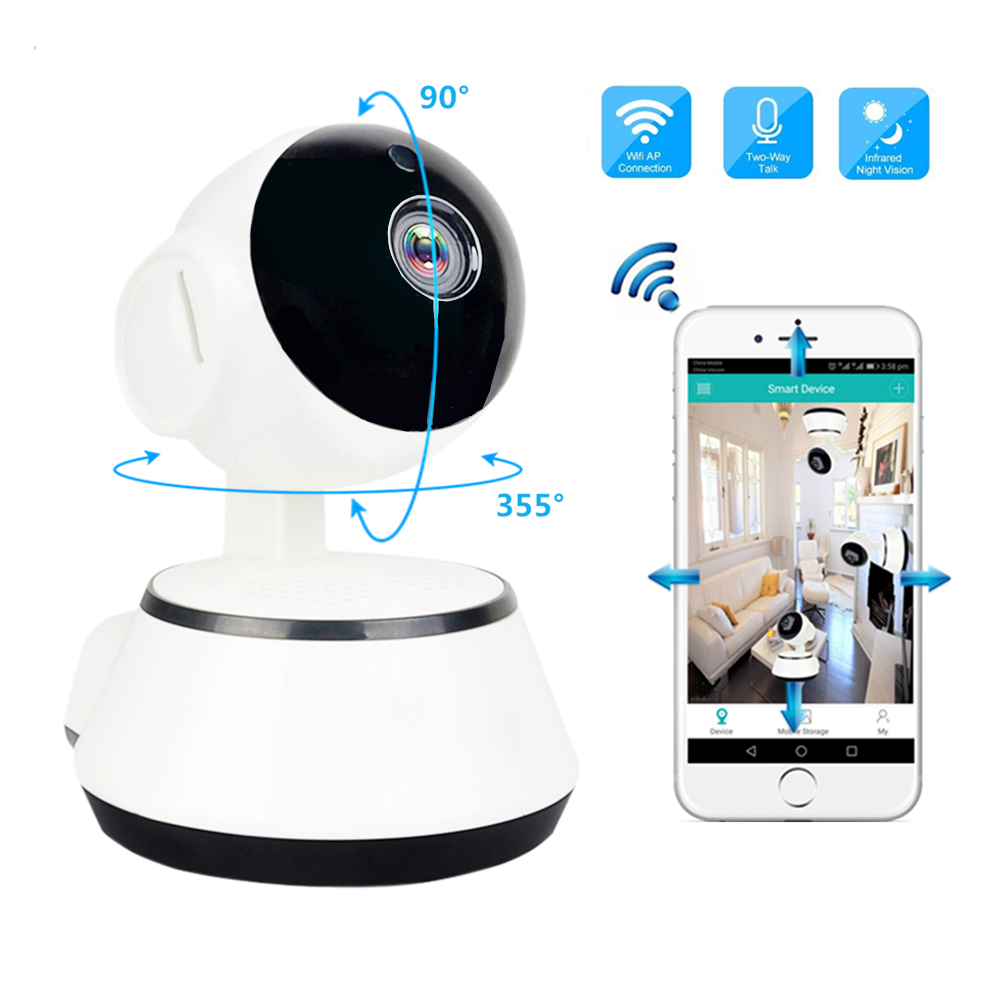 hd 720p home security ip camera wifi two way audio mini wireless camera 1080p night vision cctv camera wifi baby monitor p2p ir Home Security Wireless Wifi Camera HD 720P Two Way Audio Night Vision Baby Monitor 1MP P2P IP Camera Surveillance CCTV