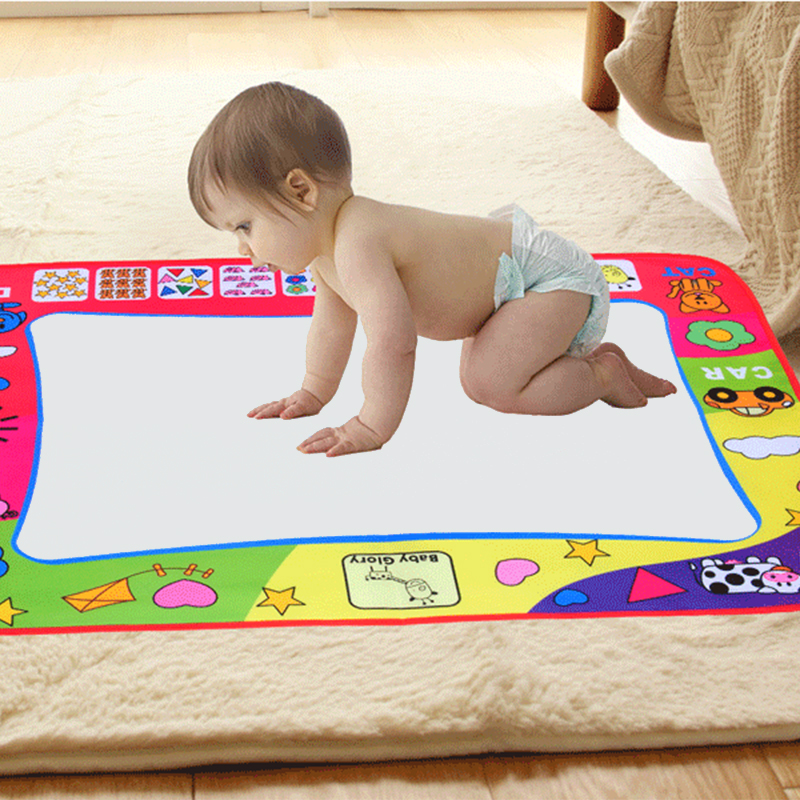 80x60cm Water Drawing Painting Writing Toys Doodle Mat Non-toxic Magic Drawing Board+2 Water Drawing Pen For Kids Gifts