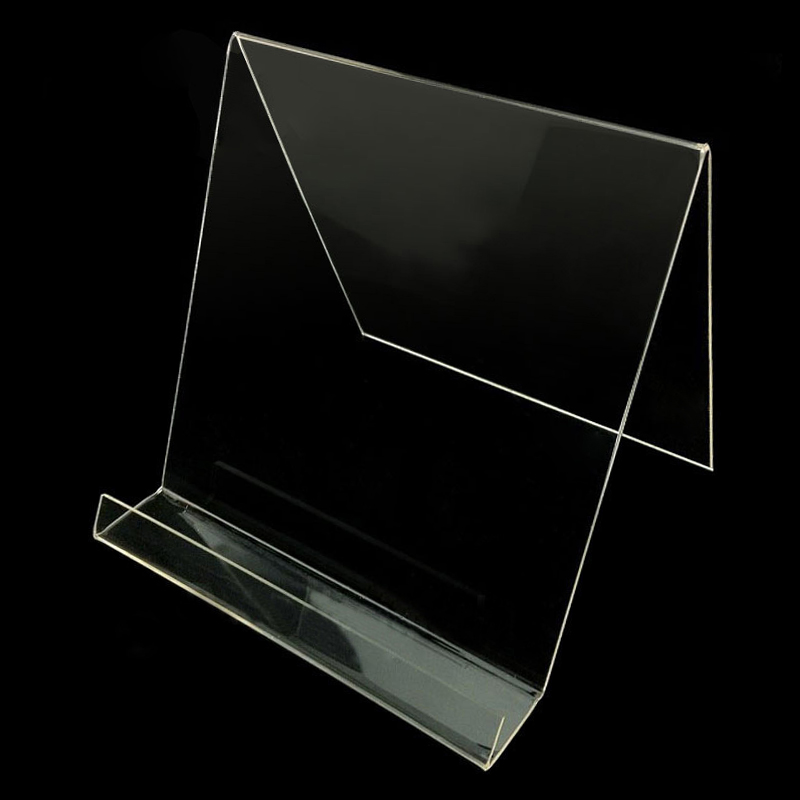 Plastic Acrylic Transparent Tablet Holder Shop Display Frame Showing Stand for Mall Market Store for iPad Tablet HF01