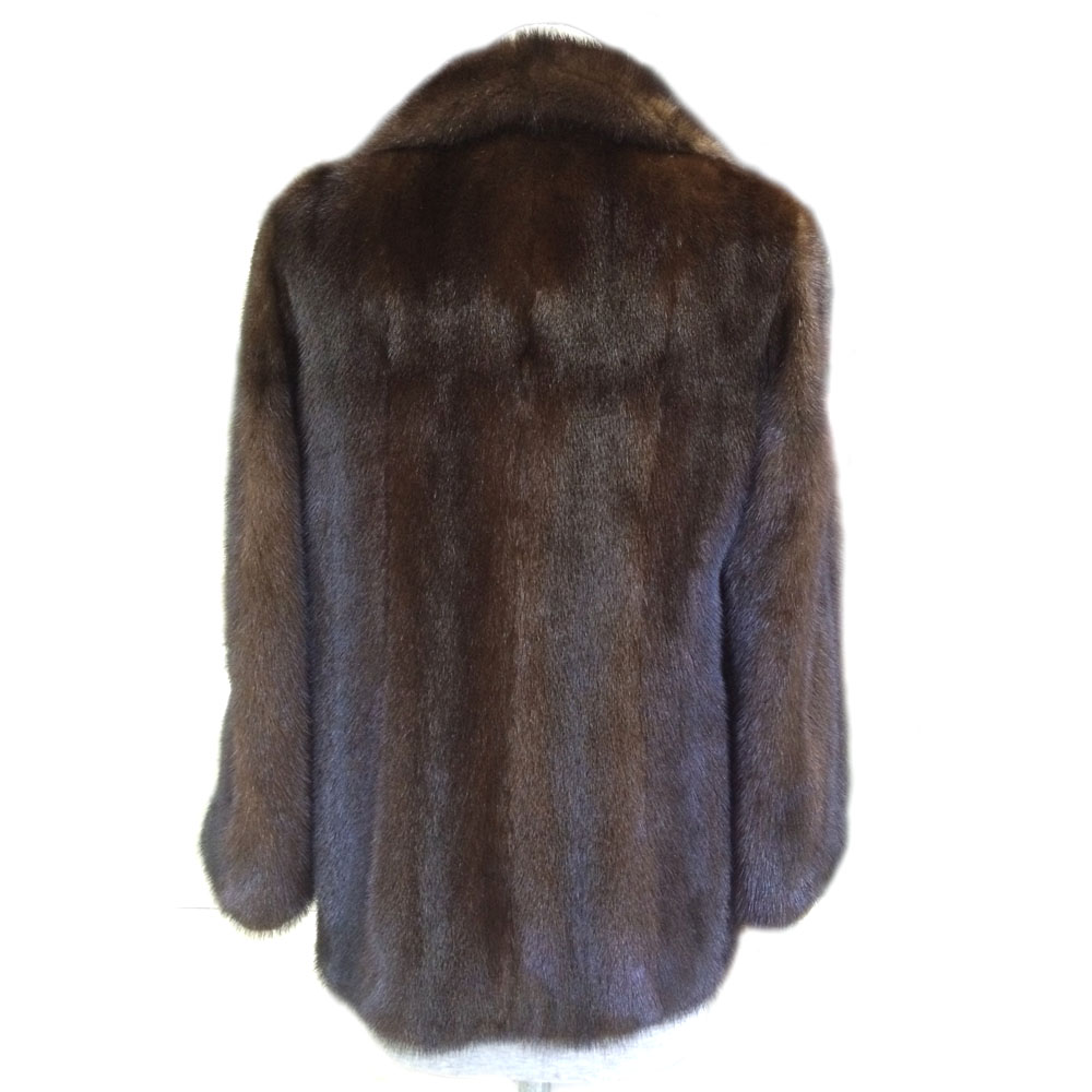 Plus Pelt Vison Real D'hiver Dame Taille Luxe Fourrure Marque La Chaud Brun Personnalisé Veste De Naturel Complet Survêtement Femmes Wt7azU