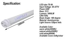 (4 Pack) Free Shipping LED Tube Lights 4FT. 120cm 24W T8 G13 Retrofit Bulb work into existing fixture 85-277V Good lamp