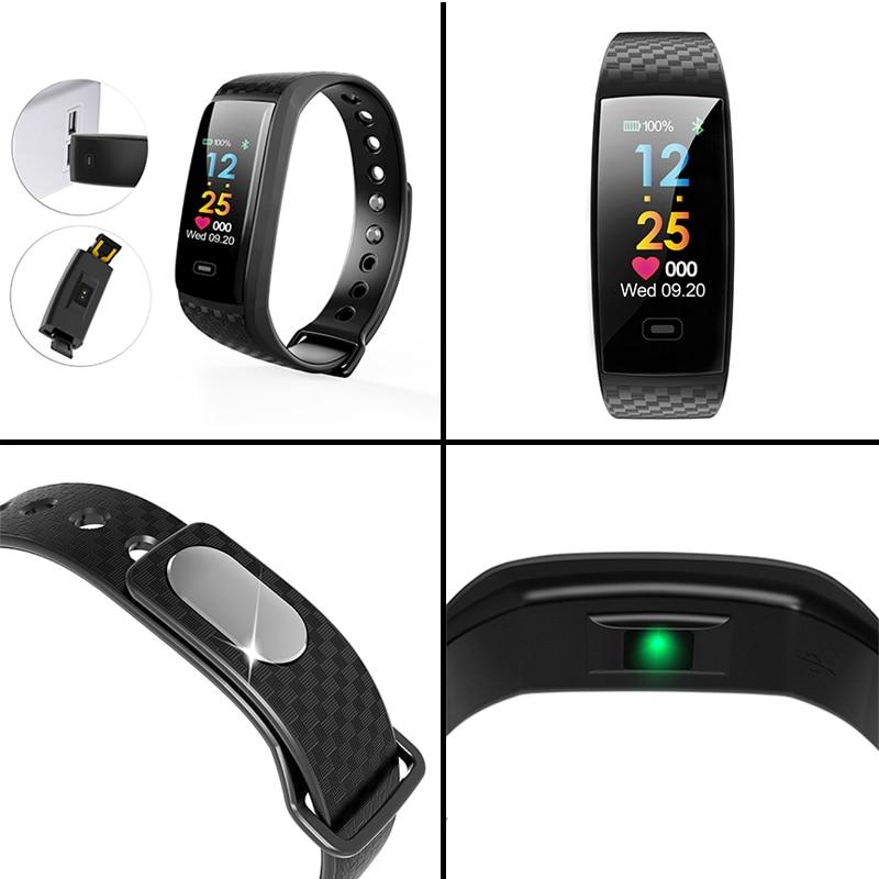Ny Smart Watch Bluetooth og Message Reminder sportsklip Fitness - Mænds ure - Foto 5