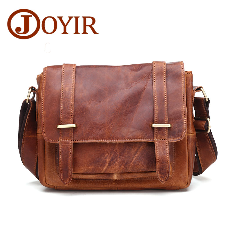 JOYIR Genuine Leather bag Crossbody bags Shoulder Handbag Men's Messenger Bag Business Men bags Laptop Tote Briefcases B350 women handbag shoulder bag messenger bag casual colorful canvas crossbody bags for girl student waterproof nylon laptop tote