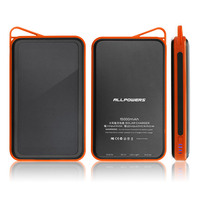Allpowers Orijinal 15000 mAh Yüksek Kapasiteli Taşınabilir Dışarı Kapı için Güç Banka Cep Telefonu Kamp Yürüyüş Yedekleme USB Portu Piller
