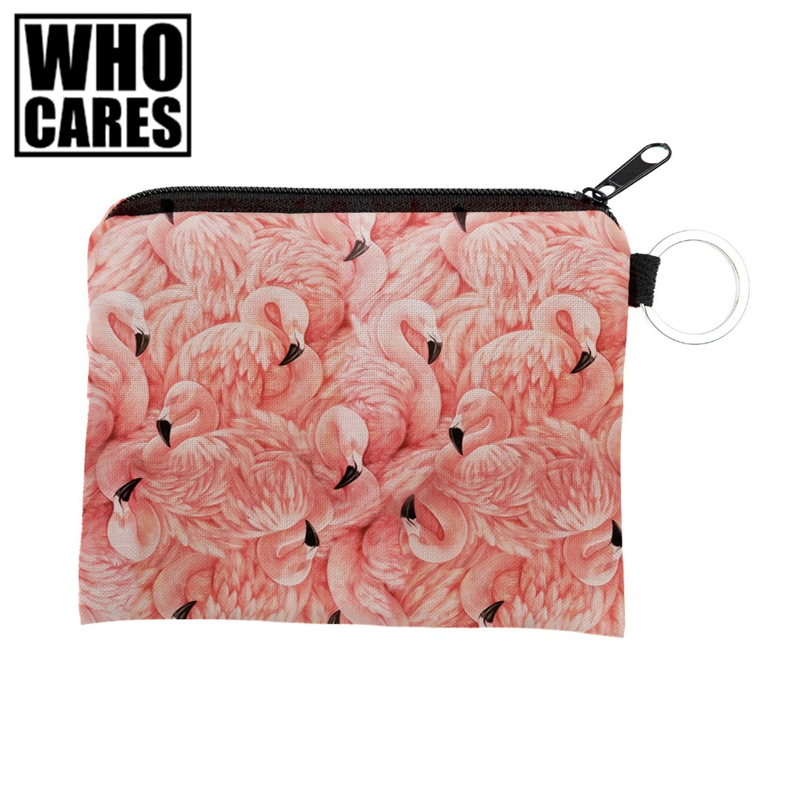 flamingo ornament wiz Square Wallet 2017 Who Cares Fashion Prints Women Purse Holder Small Zipper Coin Purse Female Money Bags flamingo beach mini square wallet 2017 who cares fashion prints women purse holder small zipper coin purse female money bags