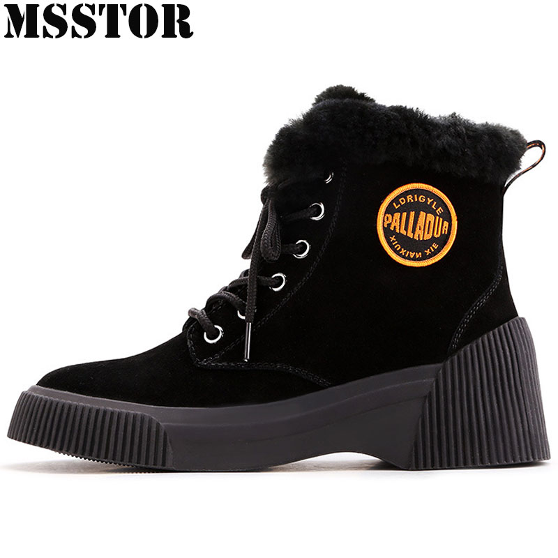 MSSTOR Winter Sneakers For Women Athletic Fashion Walking Ladies Sport Shoes Woman Brand Genuine Leather Women's Running Shoes msfair 2018 cow leather skateboarding shoes woman brand genuine leather women sport shoes rhinestone white sneakers for ladies