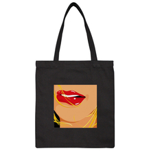 Women Girls Sexy Girl Red Lips Canvas Shoulder Hand Bag Tote Shopping Tote Crossbody Bag Day Bag