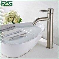 Basin Faucet Ceramic Plate Spool Bathroom Faucet Brushed Nickel Deck Mounted Stainless Steel Basin Faucet Basin