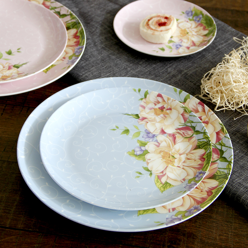 7.5 inch, white bone china dinner plates, ceramic kitchen dishes, pottery dishes for restaurant, japanese style