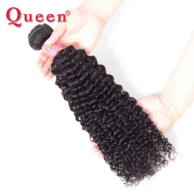 Queen Hair Products Company Malaysian Kinky Curly Weave Remy Human