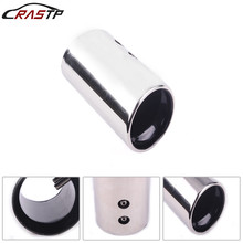 RASTP-Universal Car Auto Stainless Steel Exhaust Muffler Tip Pipe Modified Rear Tail Throat Liner Accessories RS-CR1011