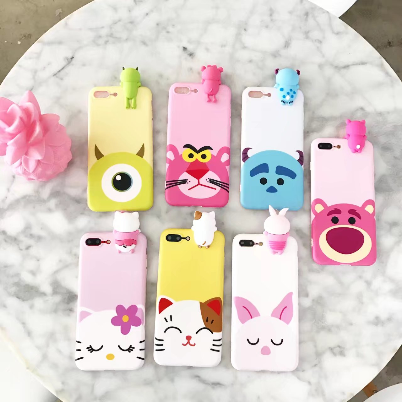 Cute cartoon animals with big eyes - Fashion Cute Silicon 3d Cartoon Soft For Iphone 7 Case 6 6s 7plus Cartoon Animal Lucky