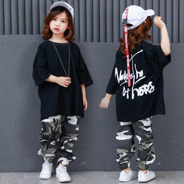 088544358 Camouflage Pants Ballroom Jazz Hiphop Street Dance Clothes Suits Children  Hip Hop Costumes Kids Boys Girls Women Men