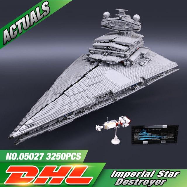 DHL 05027 05028 Star Toys Wars The 10030 10221 Star Destroyer Set Model Building Blocks Bricks Kids Toys Christmas Gifts