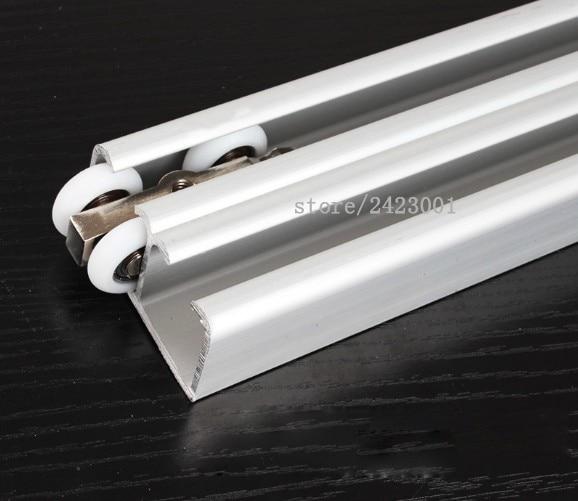 Thickening Double Door Sliding Door Guide Shower Room Double Hanging Rail Trumpet Crane Slideway Moving Door Track Glass Sliding