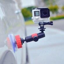 Автомобильный держатель для камеры GOPRO 360 градусов Поворотный присоска Кронштейн камера для путешествий автомобильный поршень кронштейн